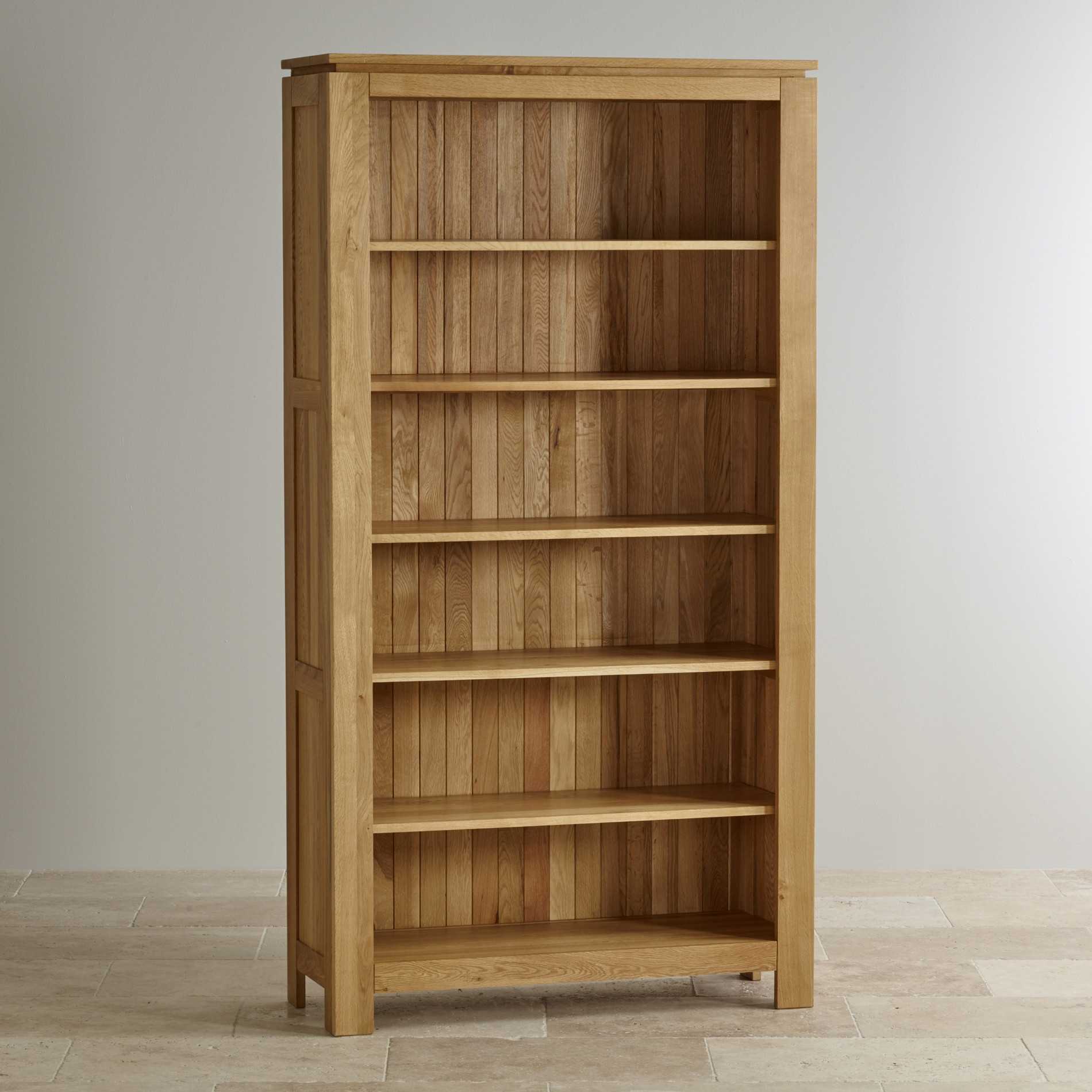 Galway Natural Solid Oak Bookcase Living Room Furniture Within Solid Oak Shelves (#7 of 15)