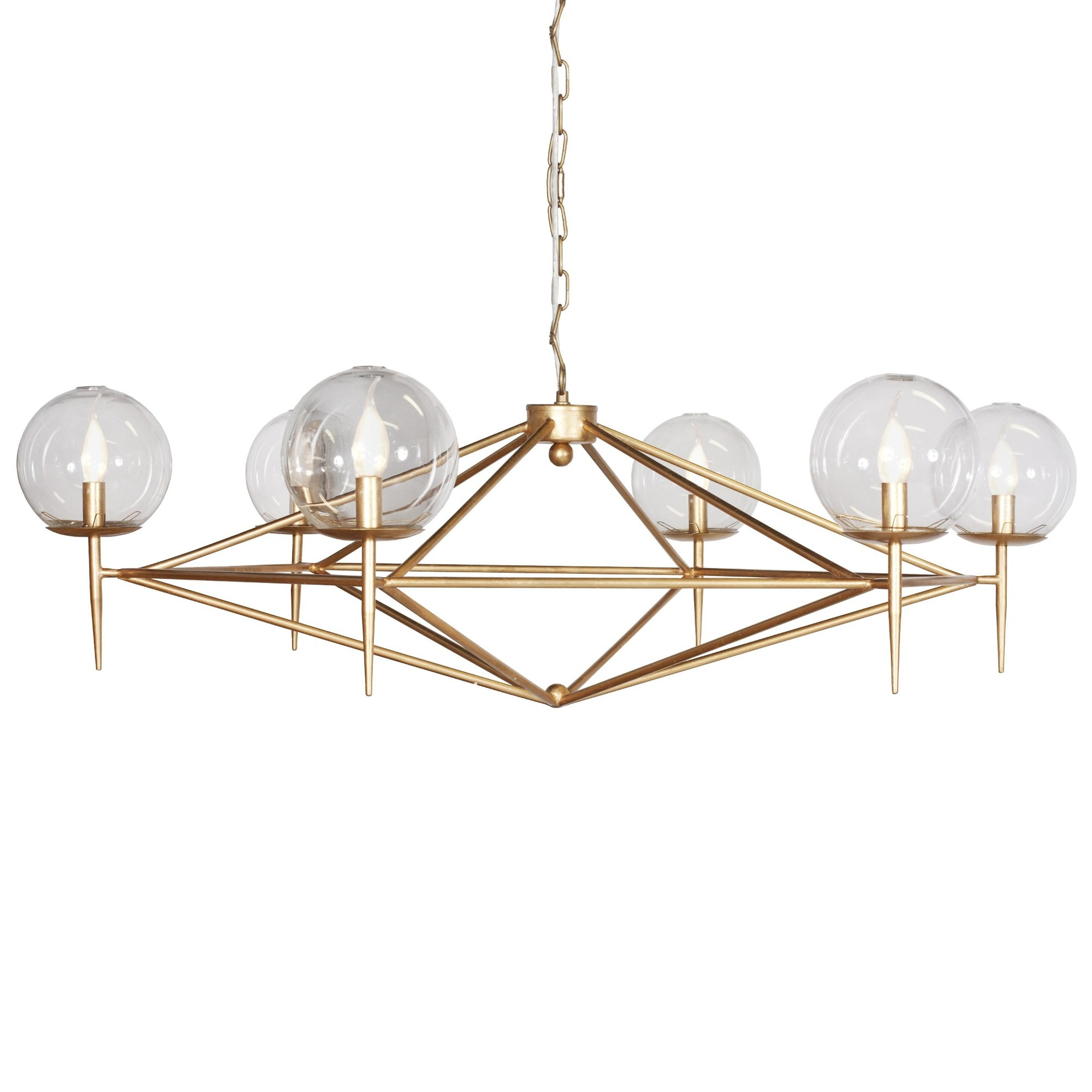 Geometric Gold Leaf Chandelier Kudzu And Company With Gold Leaf Chandelier (#8 of 12)