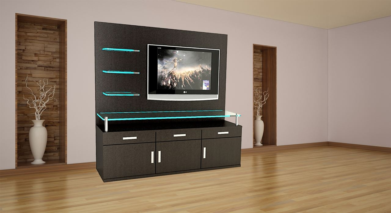 Get Modern Complete Home Interior With 20 Years Durability Throughout Tv Wall  Units (#7