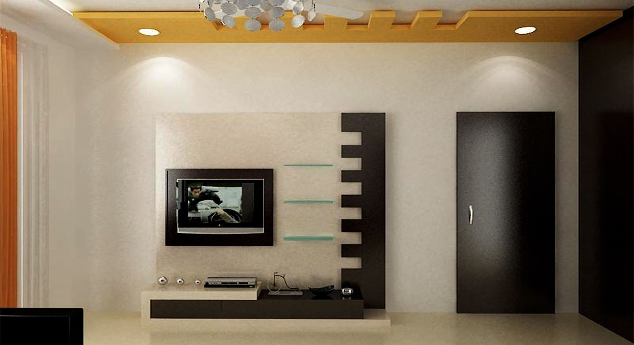 Get Modern Complete Home Interior With 20 Years Durabilitylorena Within Tv Wall Unit (#9 of 15)