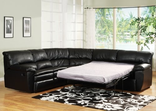 Get The Best Price For Sectional Sleeper Couch Black Leather Inside Black Leather Sectional Sleeper Sofas (#9 of 15)