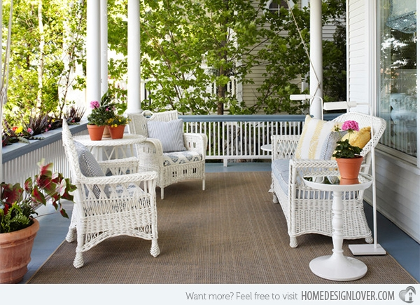 Get The Classic Charm Of 15 White Wicker Furniture Home Design Lover Inside White Cane Sofas (#10 of 15)