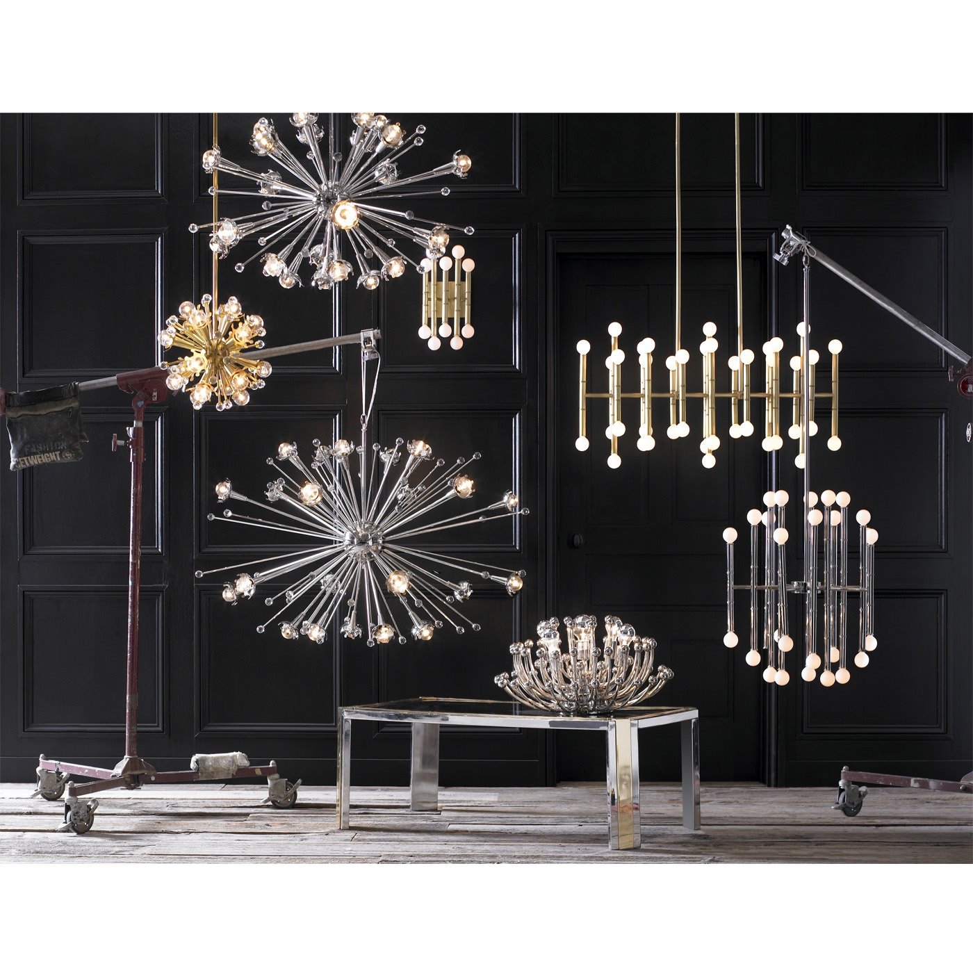 Giant Sputnik Chandelier Modern Lighting Jonathan Adler Throughout Giant Chandeliers (#7 of 12)