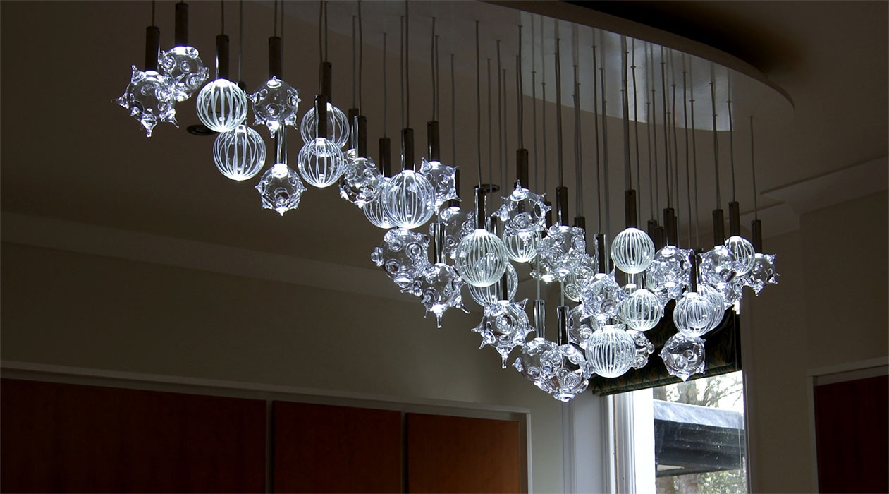 Glass Chandeliers Home Design Ideas Inside Glass Chandeliers (#4 of 12)