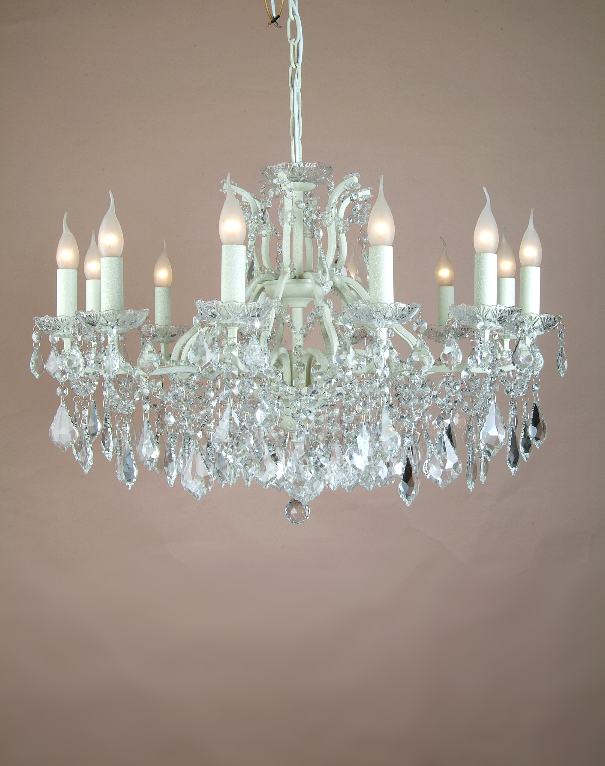 Popular Photo of Glass Chandeliers
