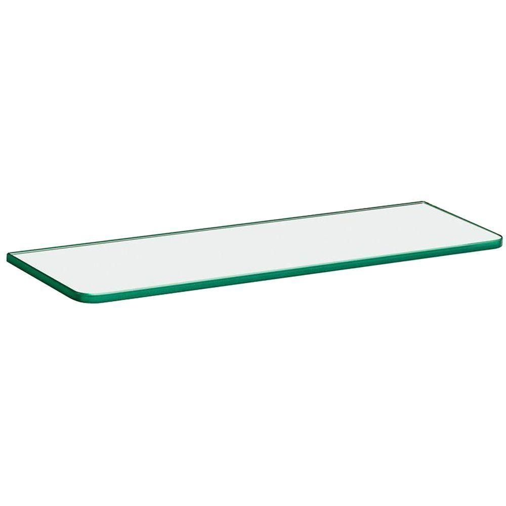 Glass Floating Shelves Shelves Shelf Brackets Storage In Clear Glass Floating Shelves (#13 of 15)