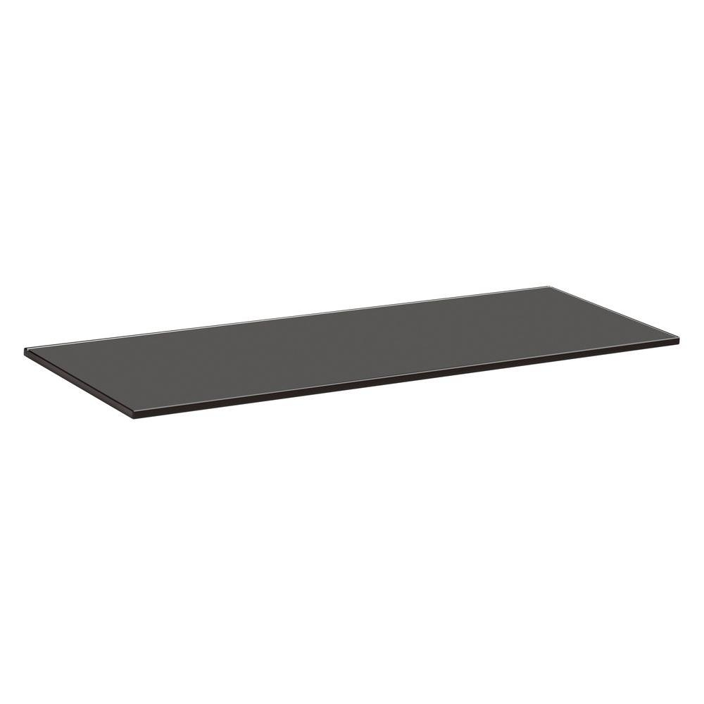 Glass Floating Shelves Shelves Shelf Brackets Storage Pertaining To Black Glass Floating Shelves (View 4 of 12)
