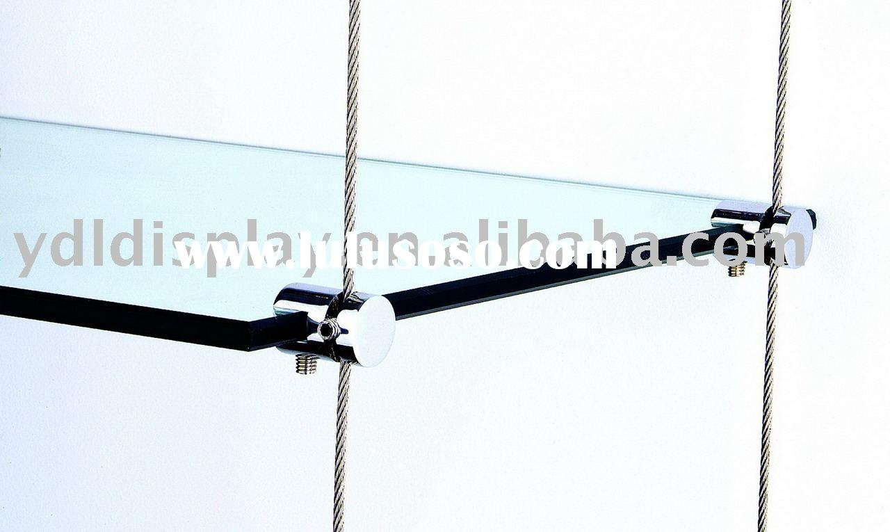 15 Photo Of Glass Suspension Shelves