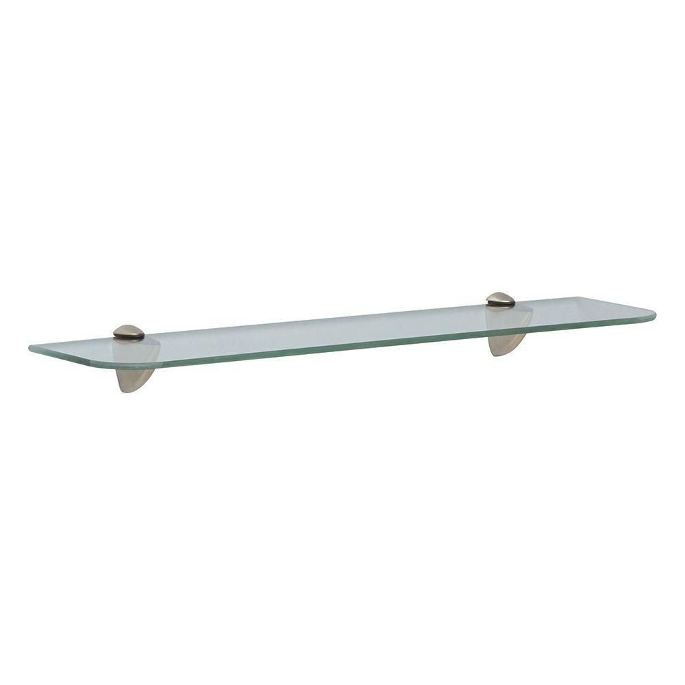 Glass Shelf Kits Shelves Shelf Brackets Storage Within Wall Mounted Glass Shelves (#2 of 12)