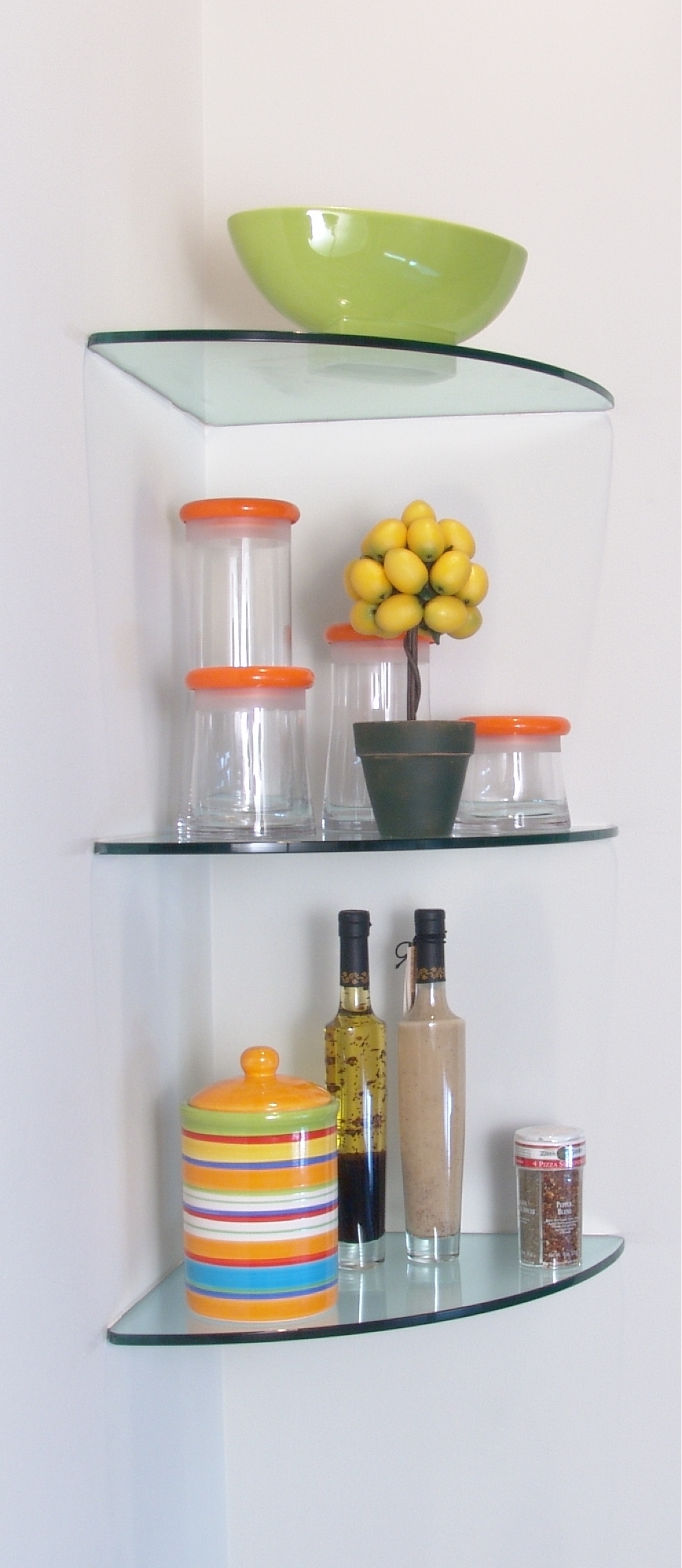Inspiration about Glass Shelves Glass Shelving With Regard To Floating Glass Corner Shelf (#6 of 12)