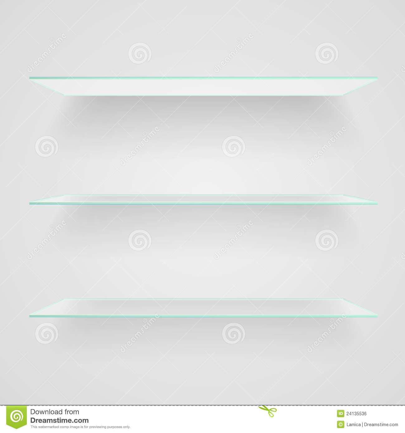 Glass Shelves Royalty Free Stock Image Image 24135536 Pertaining To Glass Shelves (#5 of 12)