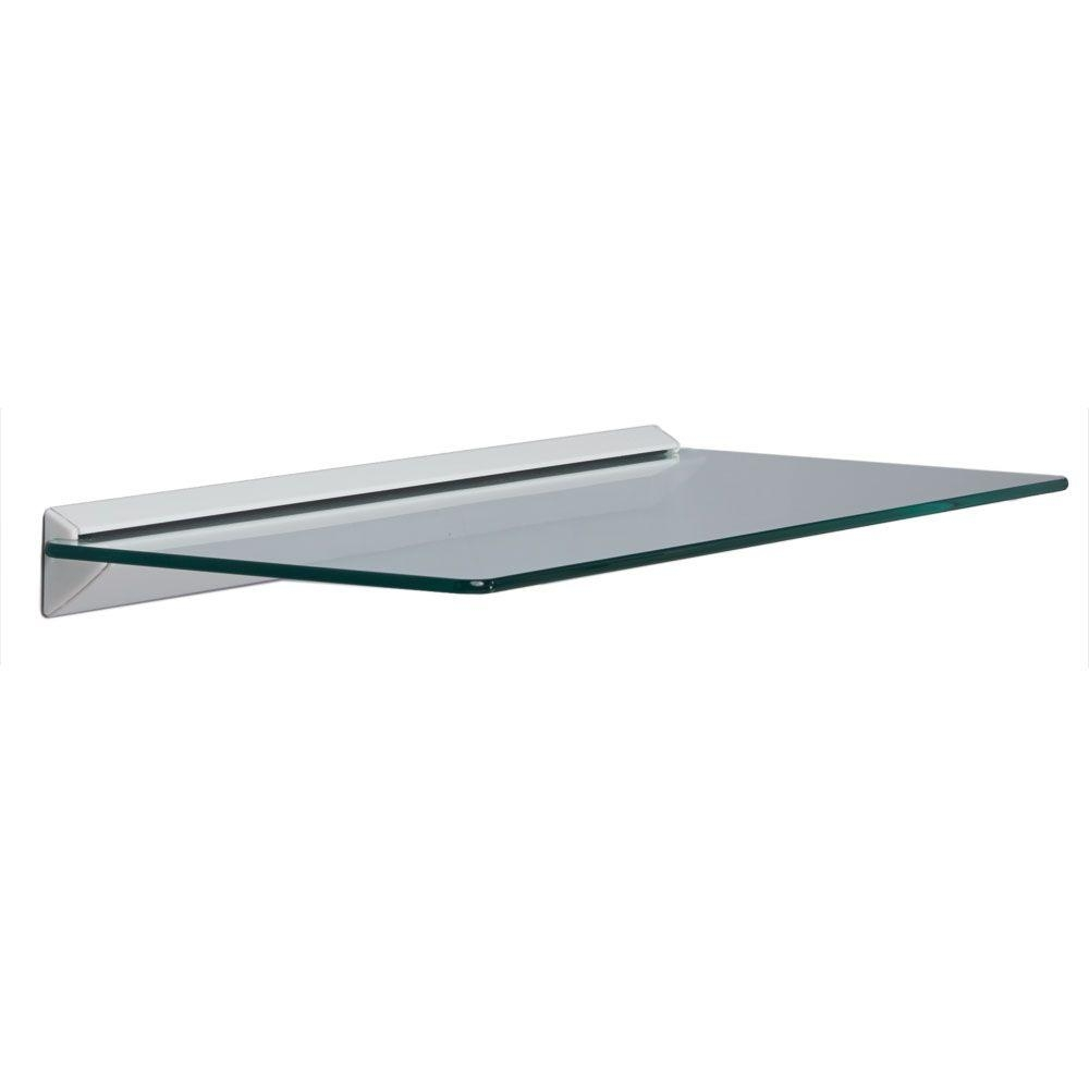 Glass Shelves Shelf Brackets Storage Organization The Pertaining To Glass Wall Mount Shelves (#1 of 12)