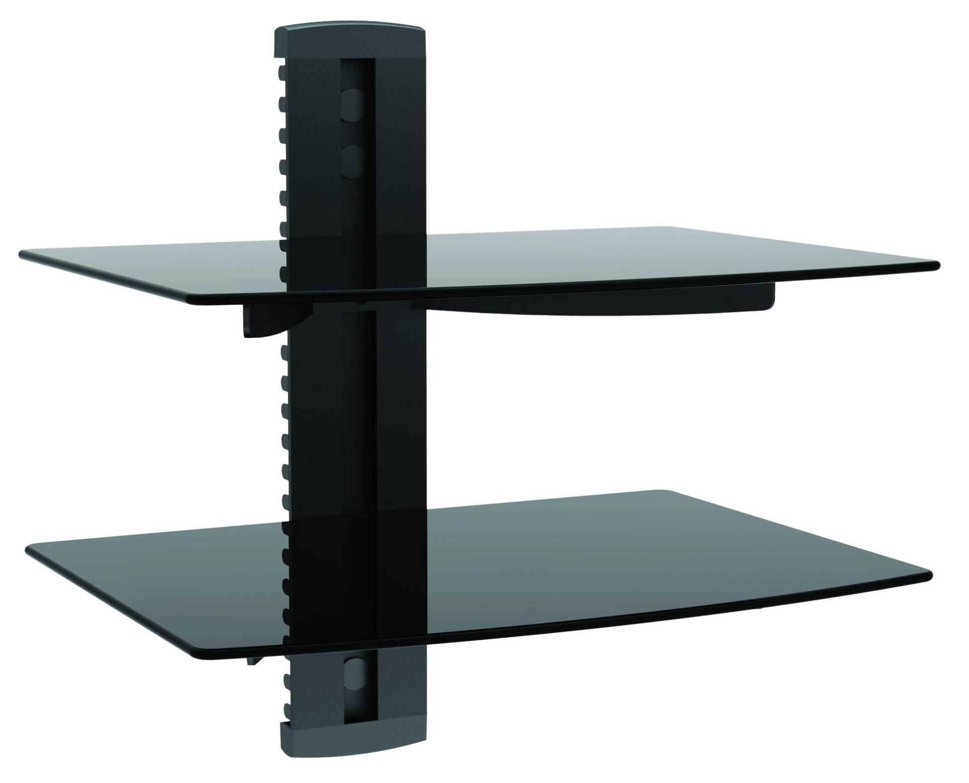 Glass Wall Mount Tv Shelf Naindien For Glass Wall Mount Shelves (#2 of 12)