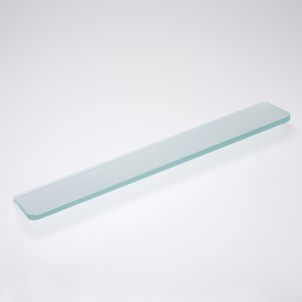 Glassline 16 X 5 Frosted Glass Shelf Fast Shipping Inside Frosted Glass Shelves (View 8 of 12)