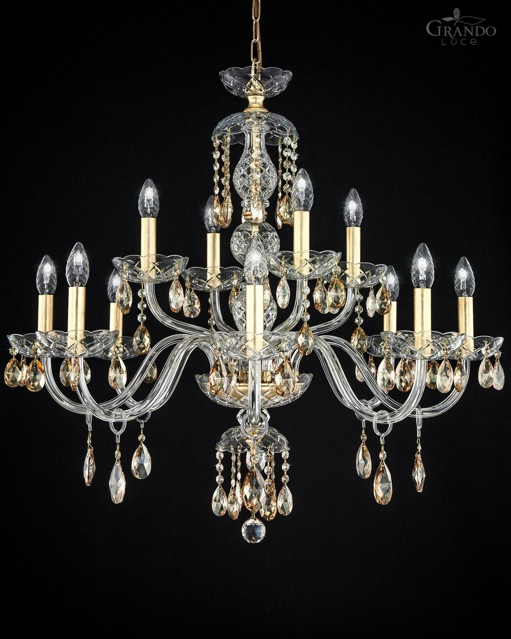 Gold And Crystal Chandelier With Regard To Crystal Gold Chandelier (#9 of 12)