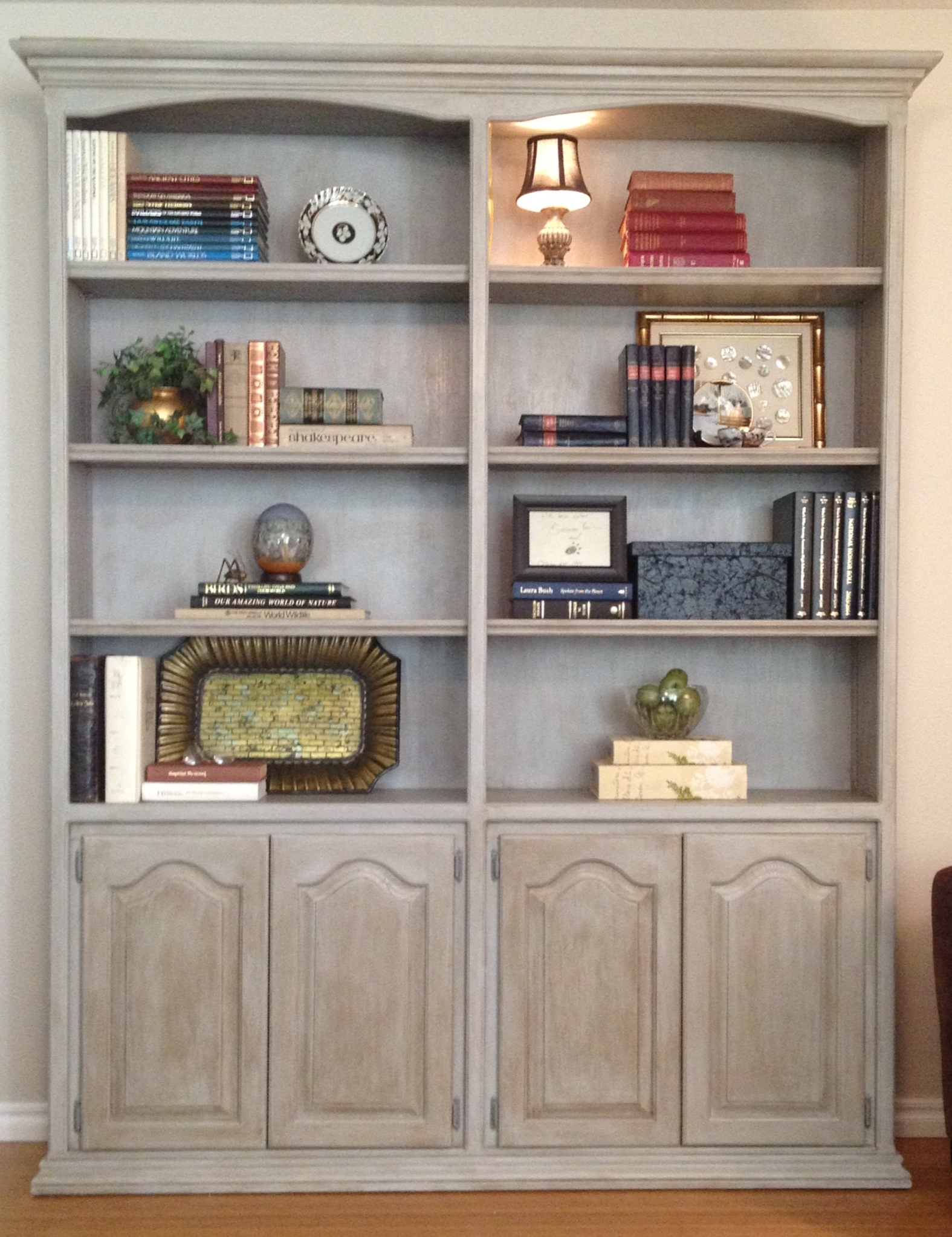 Good E To The 80s Dark Wood Bookcase Love Working With Annie In Painted Wood Bookcase (#6 of 15)