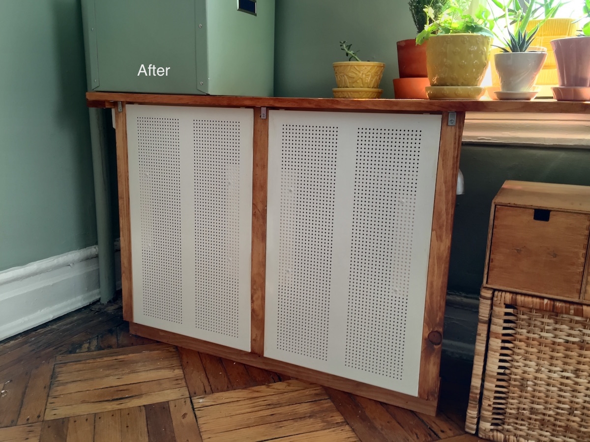 Got An Ugly Radiator Cover It With Ikea Algot Ikea Hacks Pertaining To Radiator Cover Bookshelf (#10 of 15)