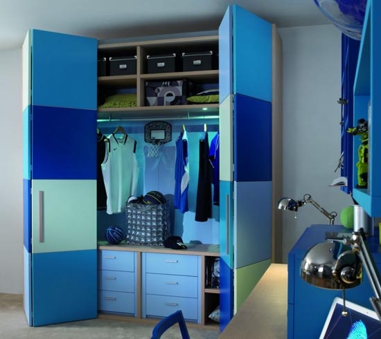 Great Blue Childrens Bedroom Wardrobe Collection From Dearkids With Childrens Bedroom Wardrobes (#9 of 15)