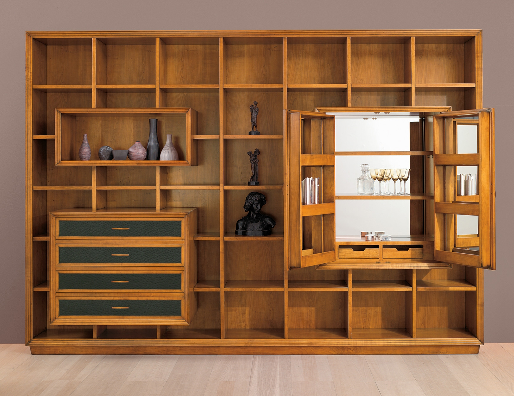 Great Library Or Living Room Alternative Via Nellavetrina With Regard To Library Wall Units Bookcase (#8 of 15)