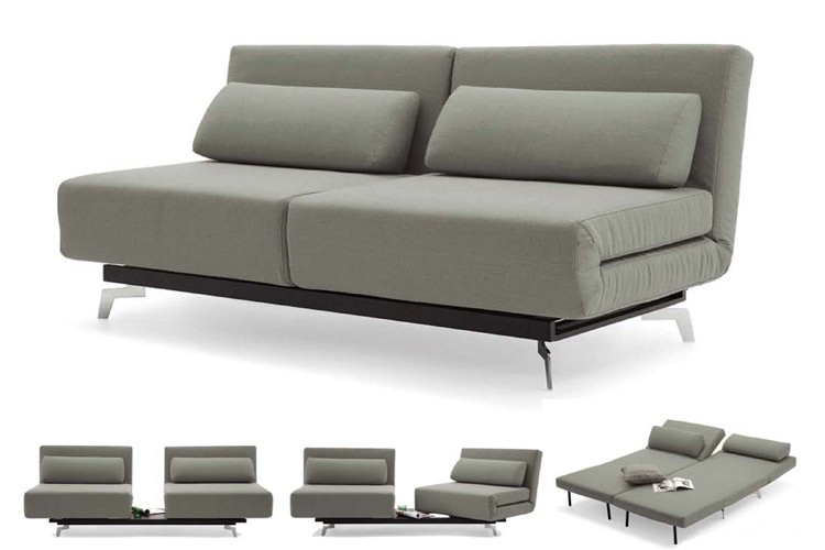 Grey Modern Futon Sofabed Sleeper Apollo Couch Futon The Futon Intended For Sofa Bed Sleepers (#7 of 15)