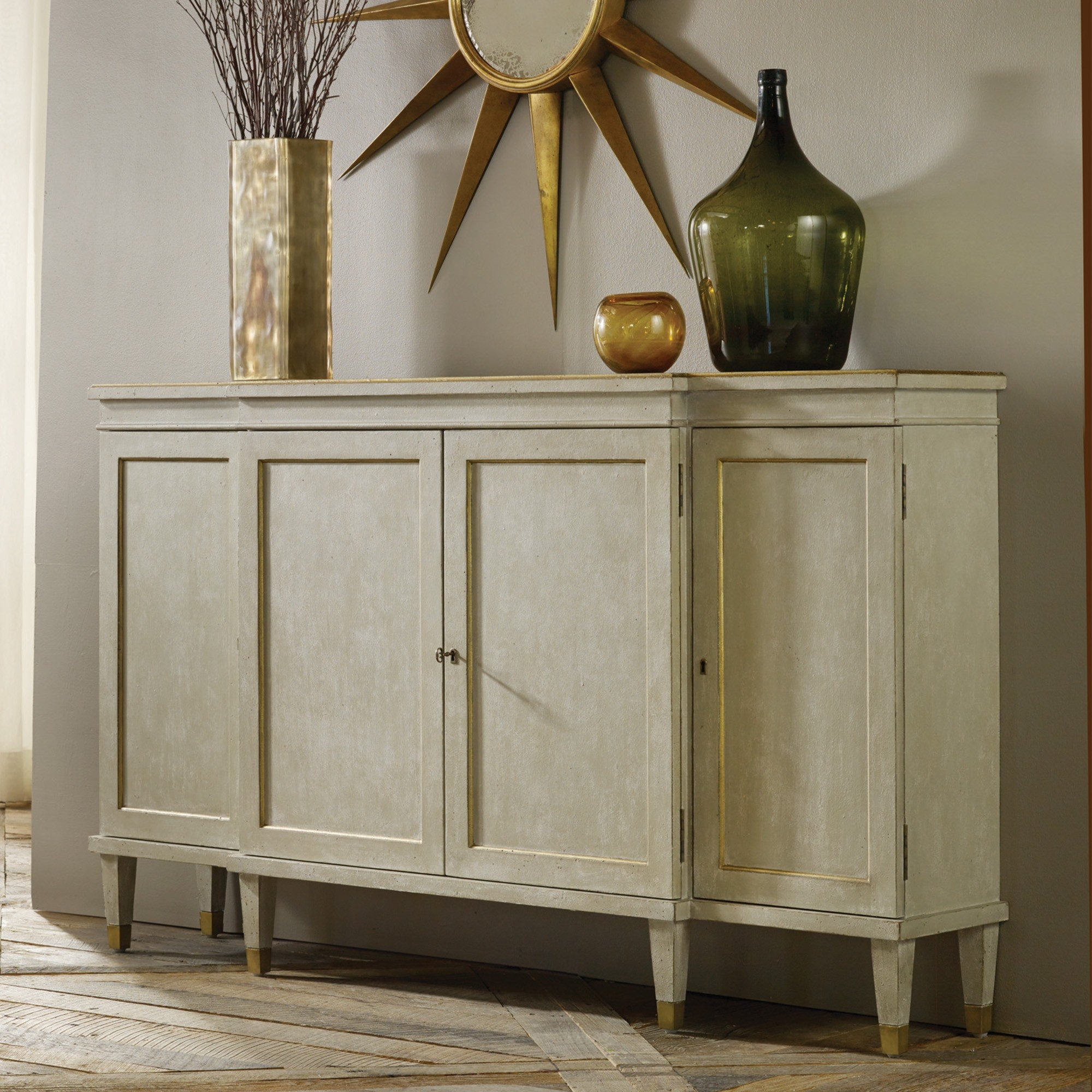 Gustavian Breakfront Cabinet Light Grey Modern History Mh722f01 Pertaining To Modern Breakfront (#4 of 15)
