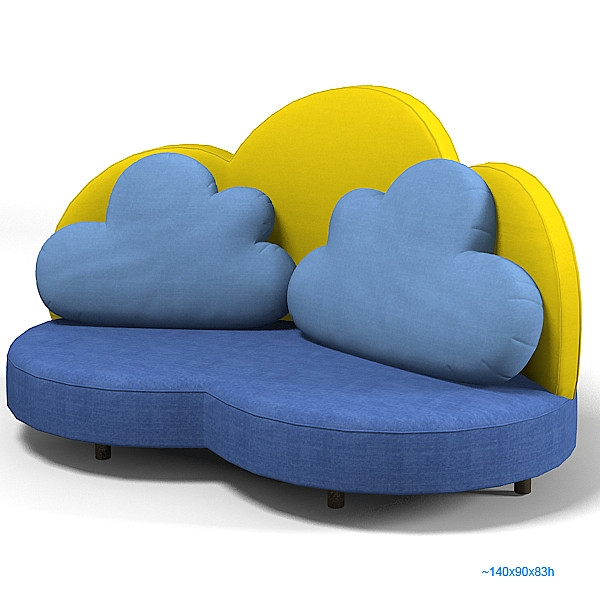 Haba 2924 Cloud 3d Max Haba 2924 Cloud Sofa Kid Children Seat Within Children Sofa Chairs (View 15 of 15)