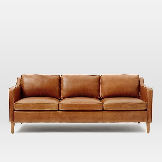 Hamilton Leather Sofa 81 West Elm Pertaining To Leather Sofas (#7 of 15)