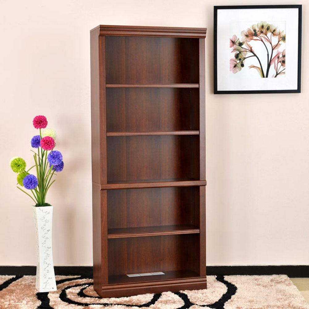 Hampton Bay Dark Brown Wood Open Bookcase Thd1304191aof The Intended For Cupboard Bookcase (#6 of 15)
