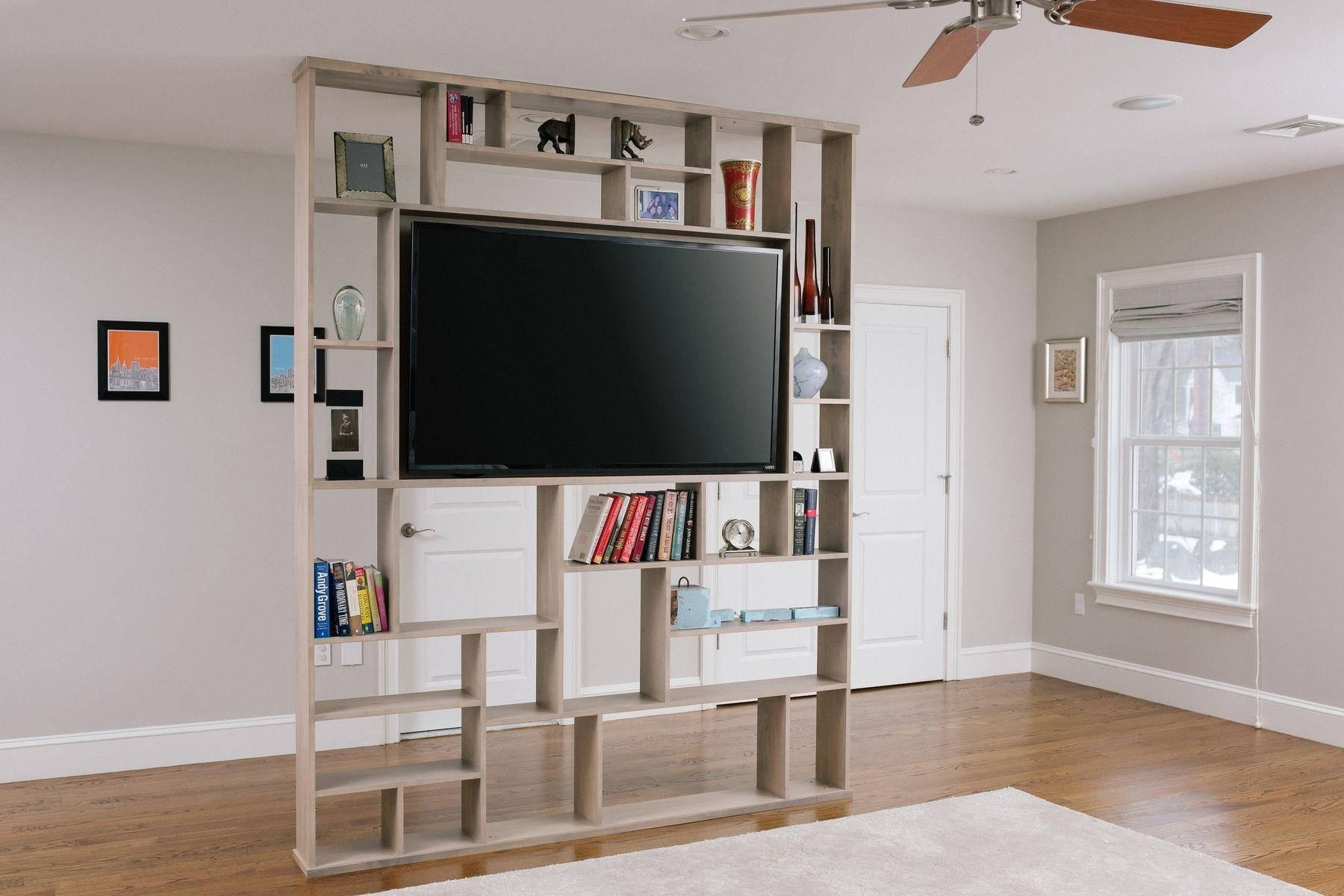 Hand Crafted Lexington Room Divider Bookshelf Tv Stand Corl Inside Tv And Bookshelf (#6 of 15)