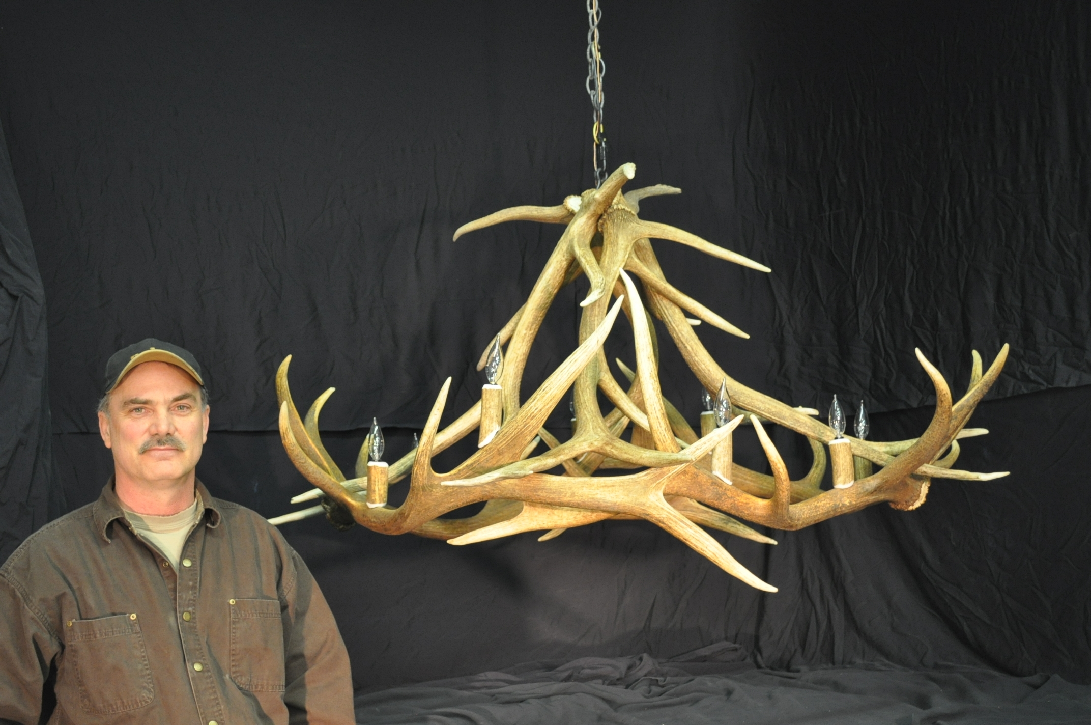 Hand Crafted Montana Antler Chandeliers In Antler Chandeliers And Lighting (#7 of 12)