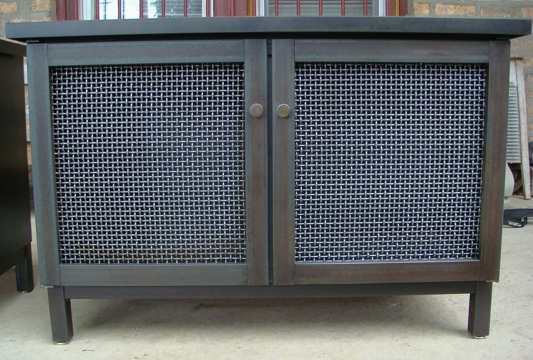 Hand Made Cabinet Radiator Cover Industrial Modern Andrew Regarding Radiator Cover Shelf Unit (#7 of 15)