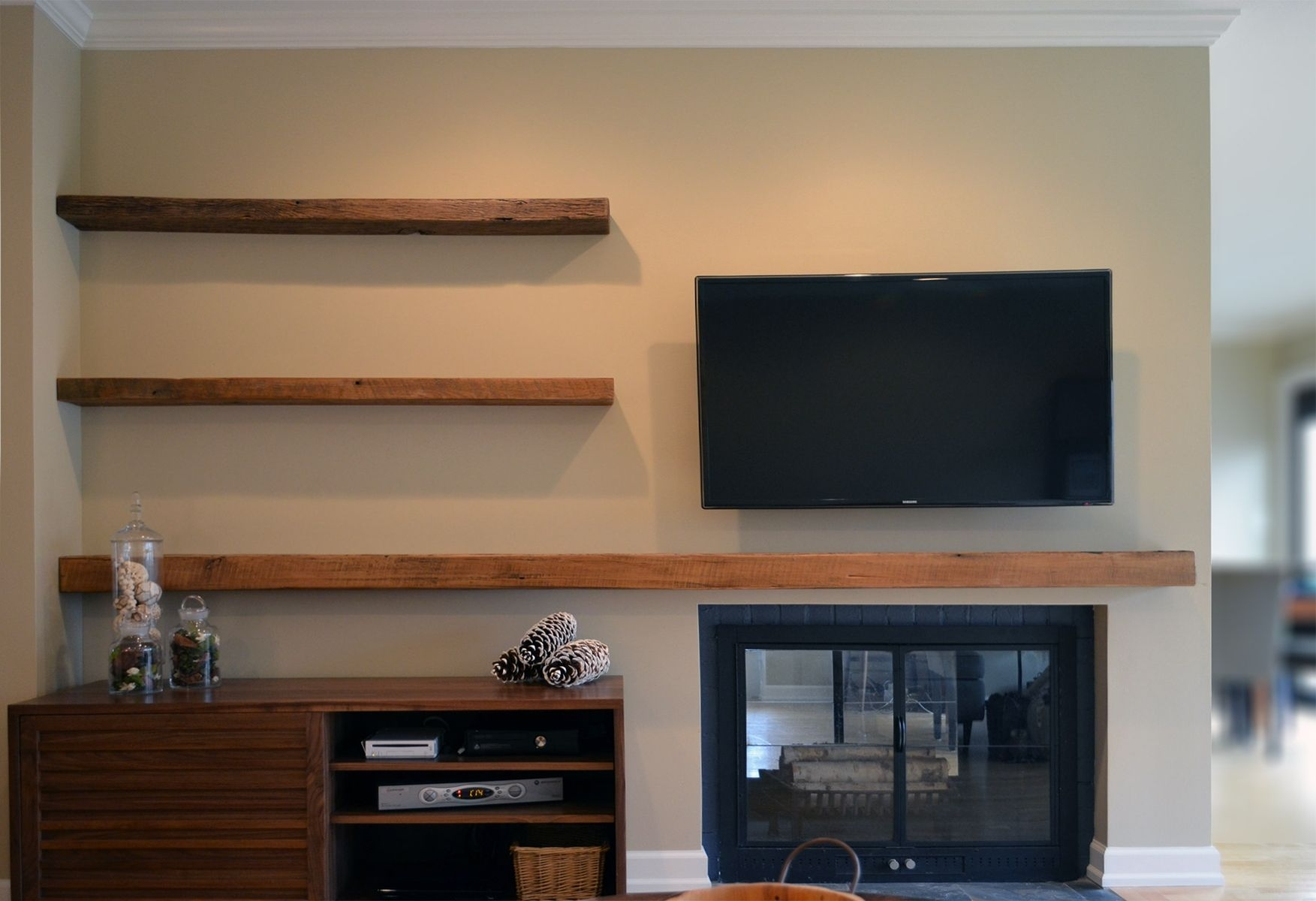 Popular Photo of Custom Floating Shelves