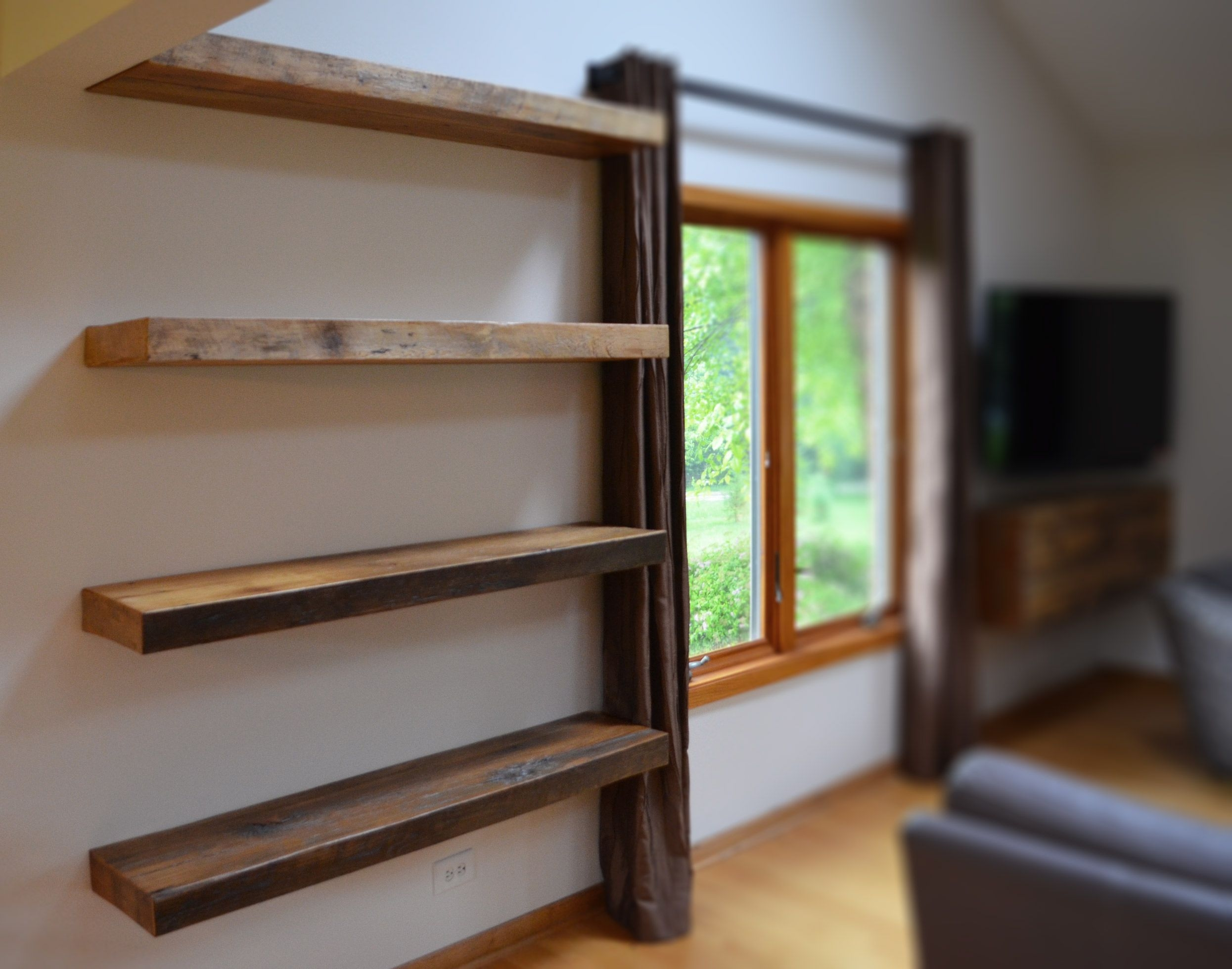 Hand Made Rustic Floating Shelves Abodeacious Custommade Inside Custom Floating Shelves (View 10 of 12)