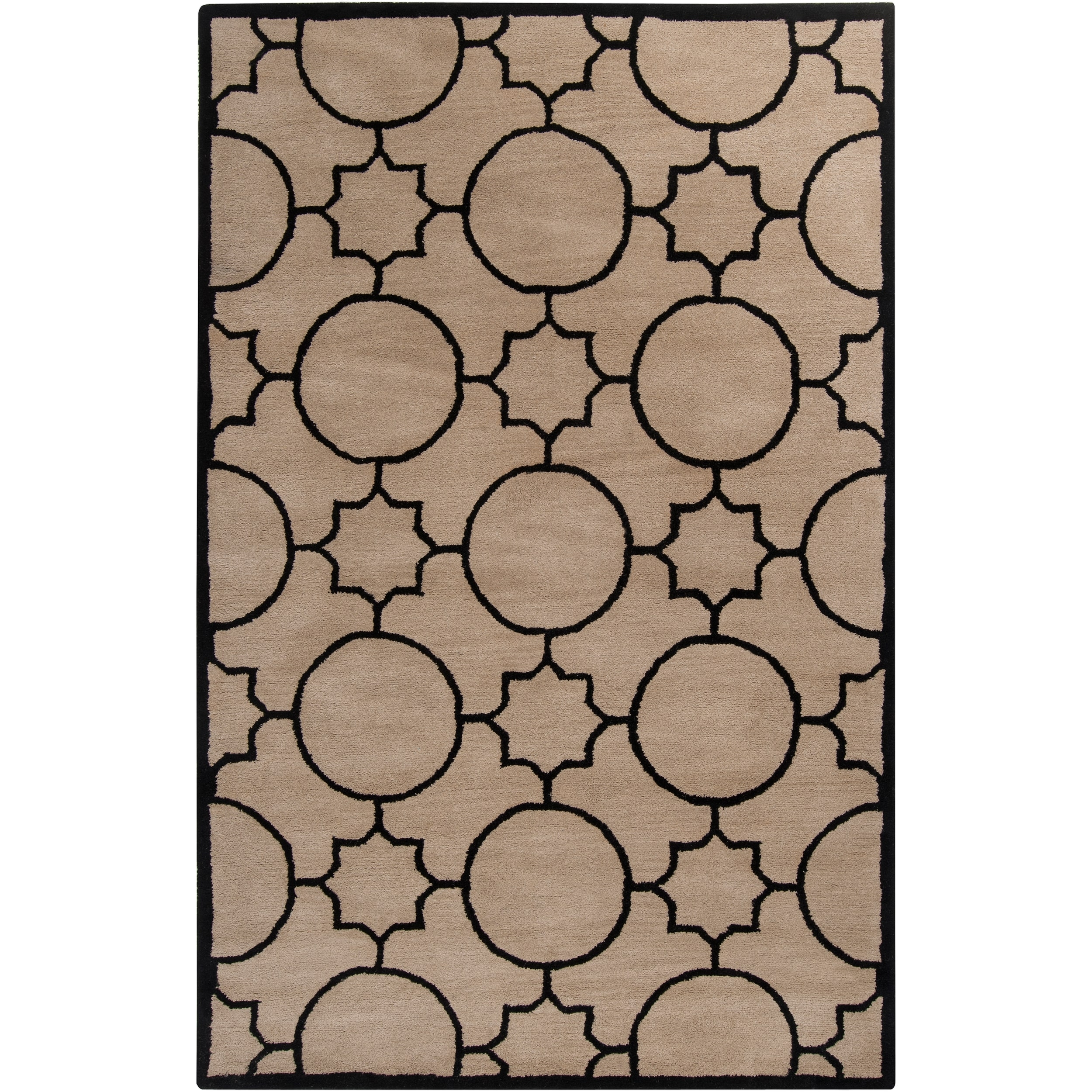Hand Tufted Oscar Black Wool Area Rug 36 X 56 Free Shipping With Regard To Black Wool Area Rugs (#8 of 15)
