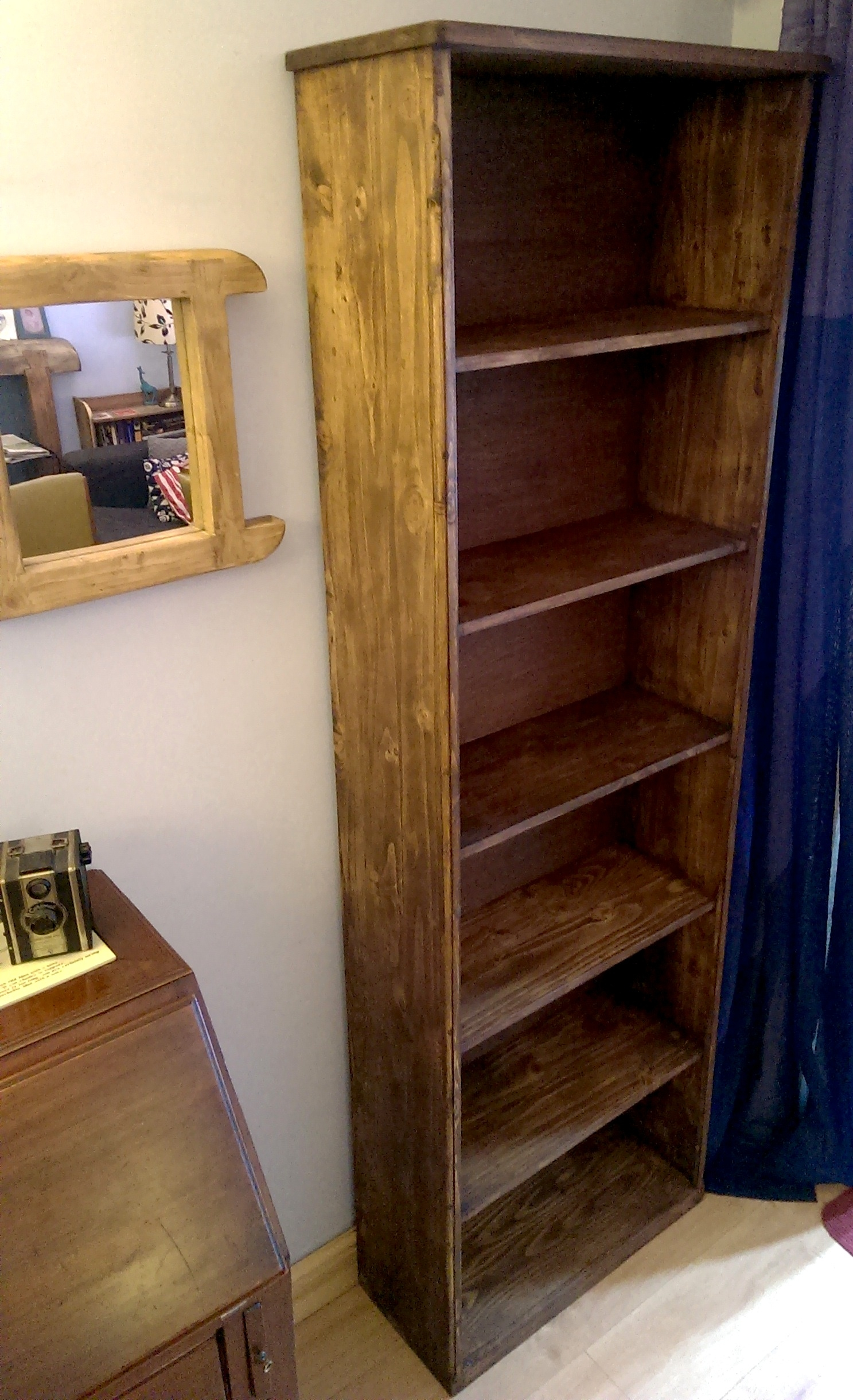 Handmade Available On Etsy Uk Rustic Bookshelves In Eco Pertaining To Handmade Bookcases (#9 of 15)