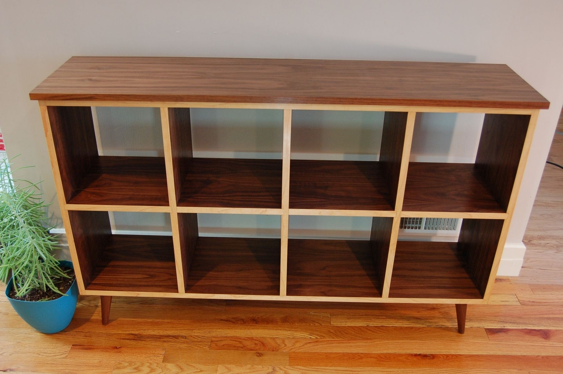 Handmade Furnishings Walnut Bookcase With Maple Edge Banding Intended For Handmade Bookcase (#8 of 15)