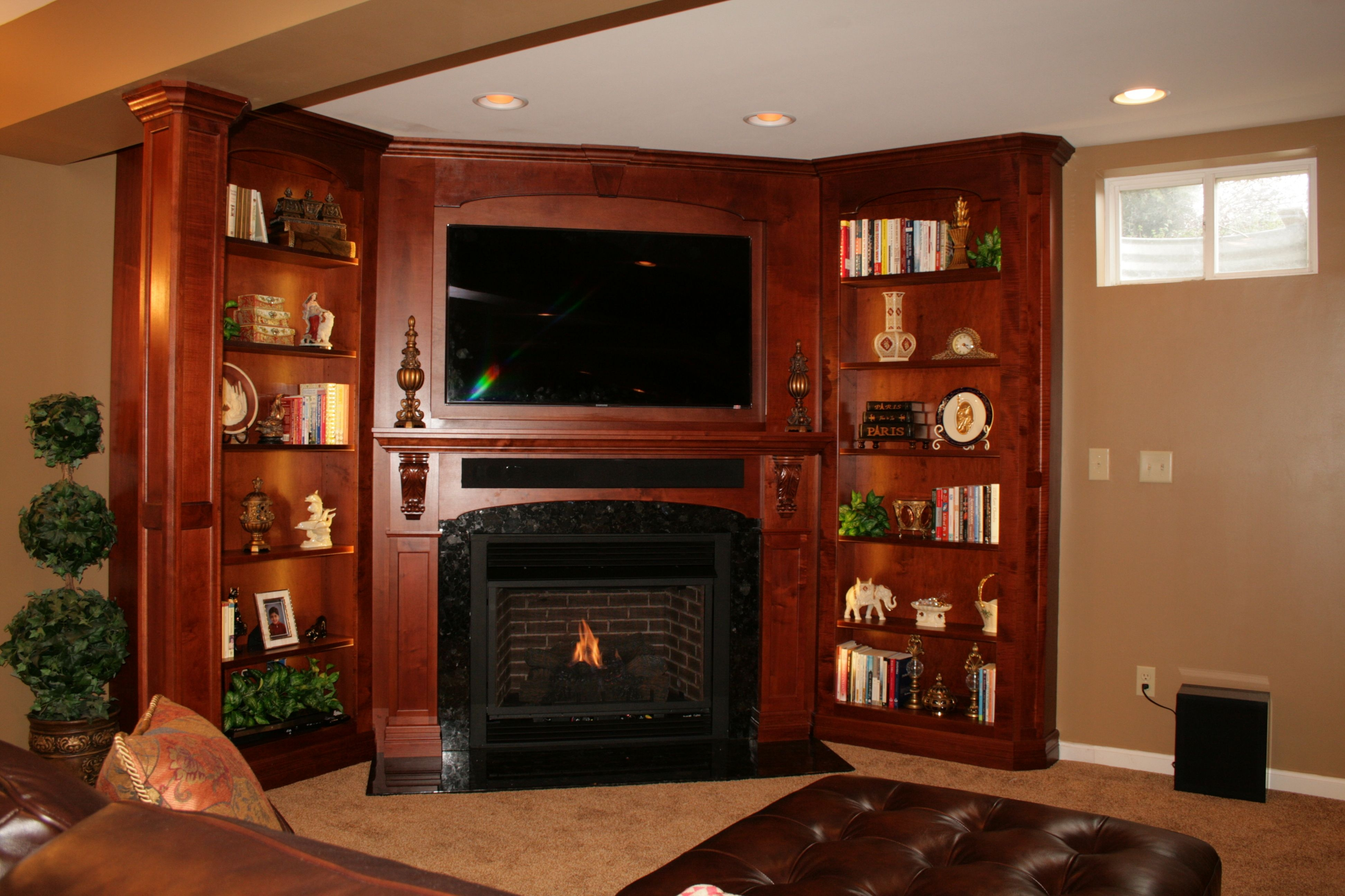 Handmade Solid Wood Built In Tv Wall Unit Fireplace And Bookcase With Regard To Handmade Bookcase (View 10 of 15)