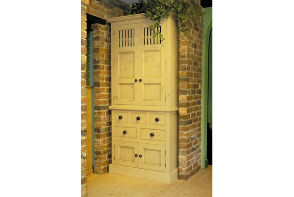 Handmade Solid Wood Larder Unit Freestanding Kitchen Units Throughout Free Standing Kitchen Larder Cupboards (#11 of 15)
