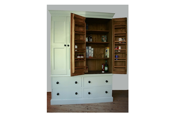 Handmade Solid Wood Larder Unit Freestanding Kitchen Units With Free Standing Kitchen Larder Cupboards (#12 of 15)