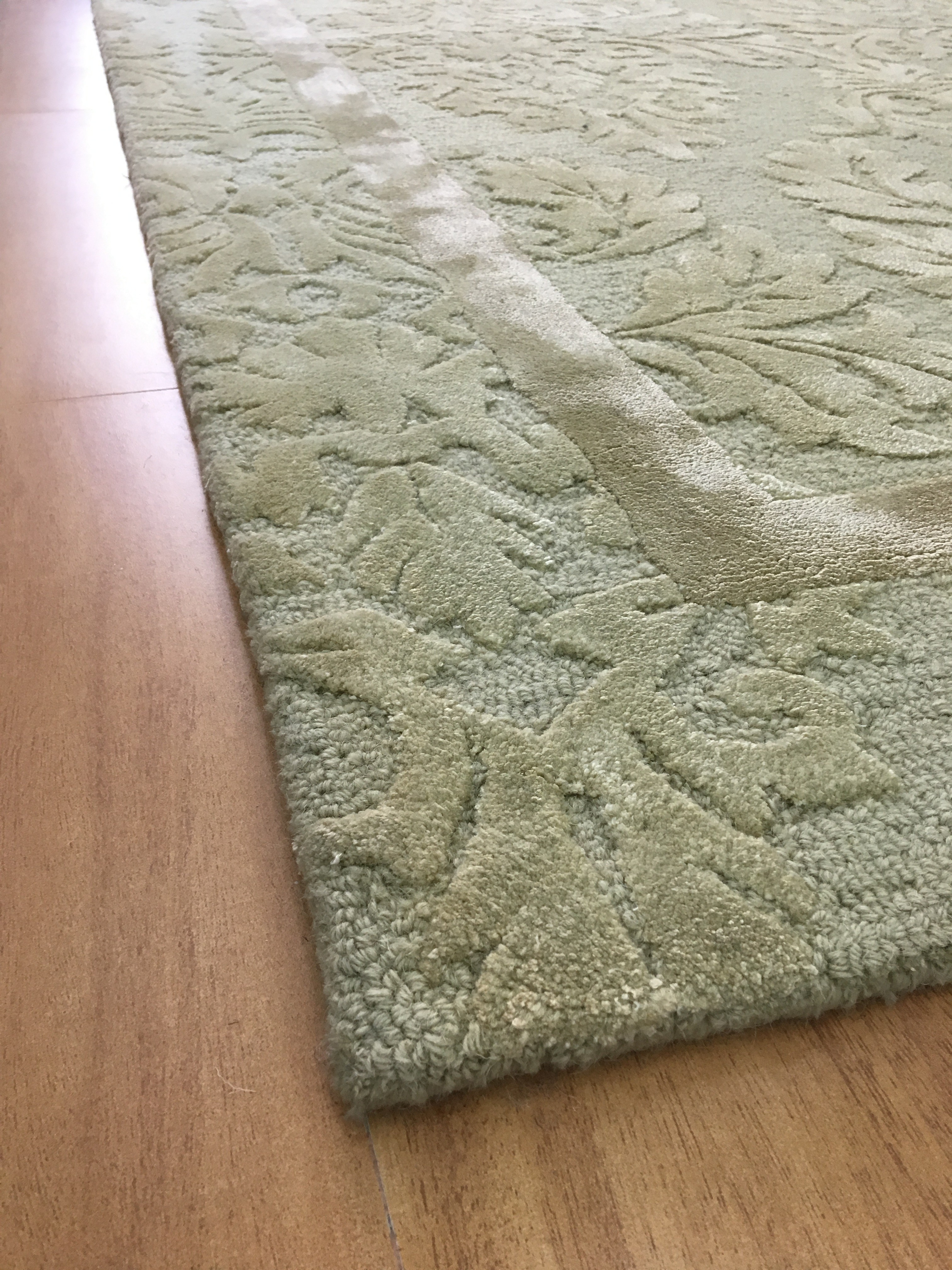 Handmade Wool Viscose Floral Green 5×8 Lt1007 Area Rug Pertaining To Green Wool Area Rugs (#7 of 15)