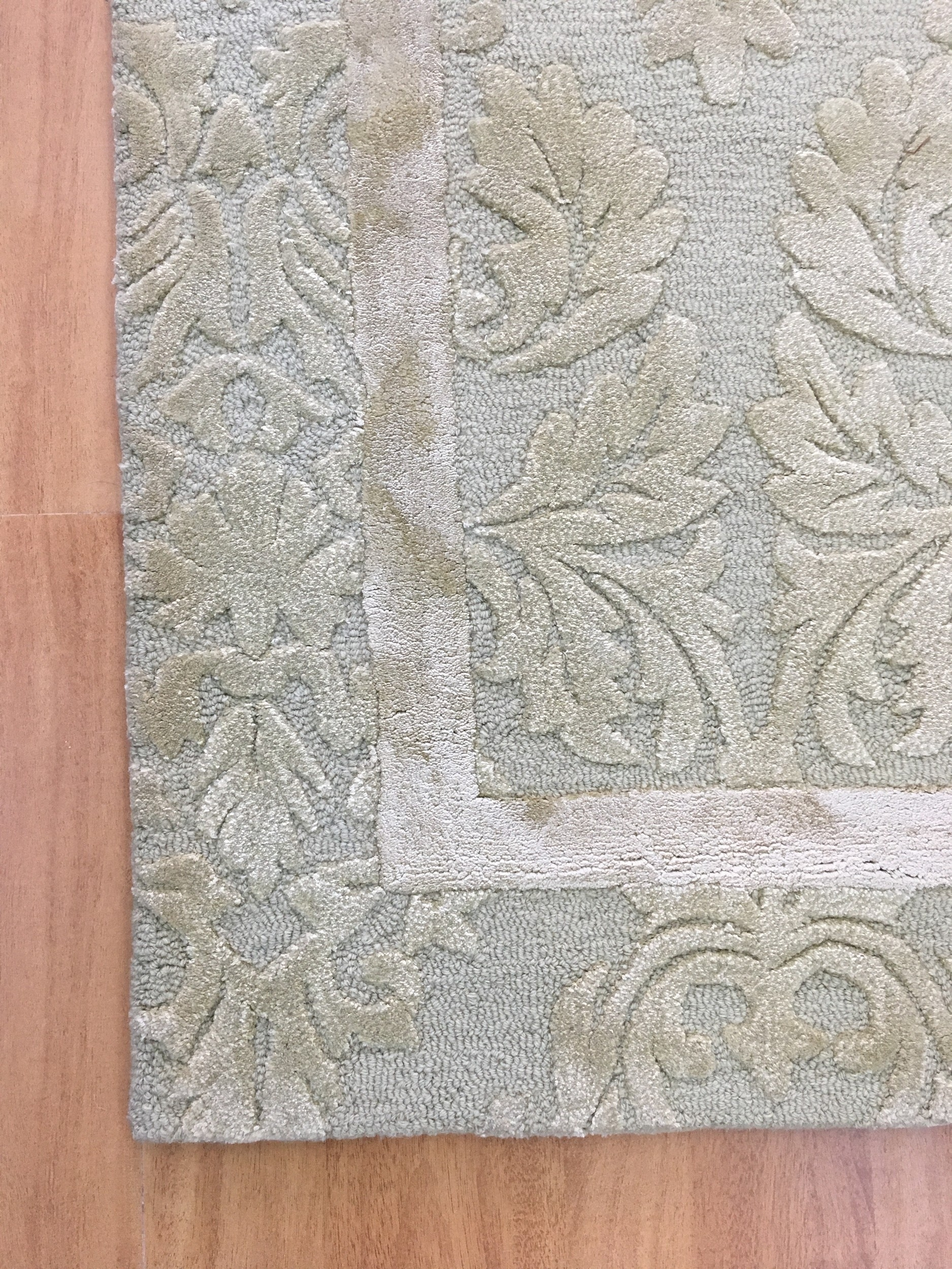 Handmade Wool Viscose Floral Green 5×8 Lt1007 Area Rug With Regard To Wool Area Rugs 5× (#6 of 15)