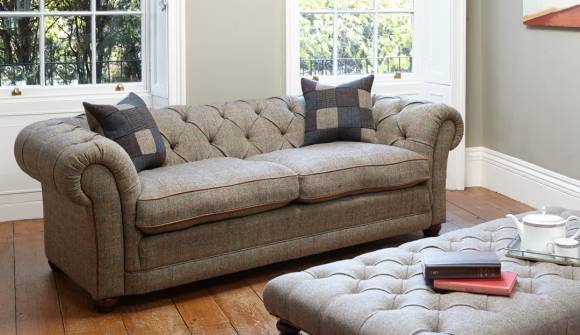 Harris Tweed Sofas At Unmissable Prices Darlings Of Chelsea For Tweed Fabric Sofas (#6 of 15)