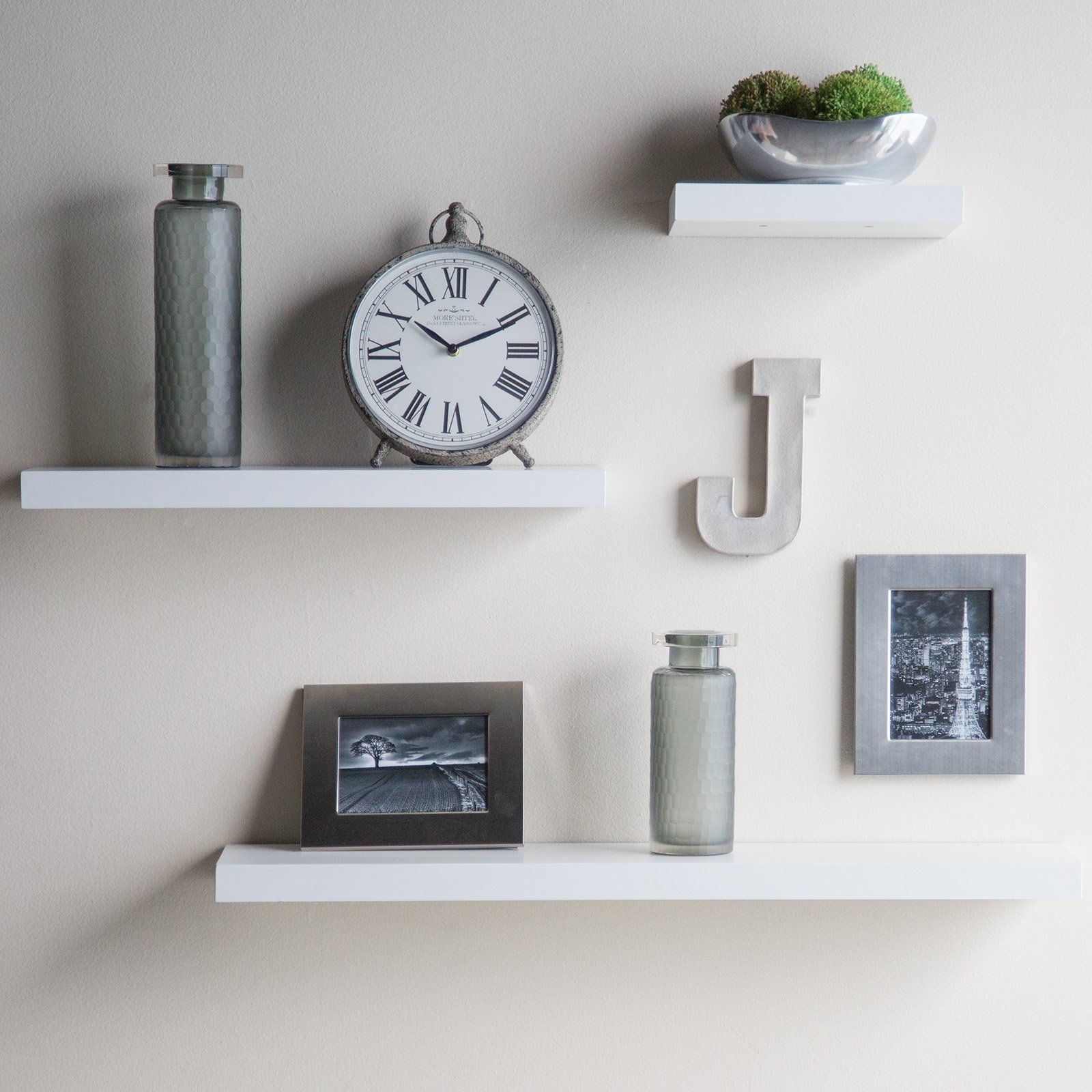 Have To Have It Hudson Easy Mount Floating Shelves 3 Pk 36 In For White Wall Shelves (View 7 of 15)