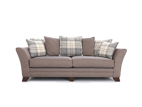 Hepburn 4 Seater Sofa Pillow Back Grade P All Ranges Cousins Intended For Large 4 Seater Sofas (View 4 of 15)