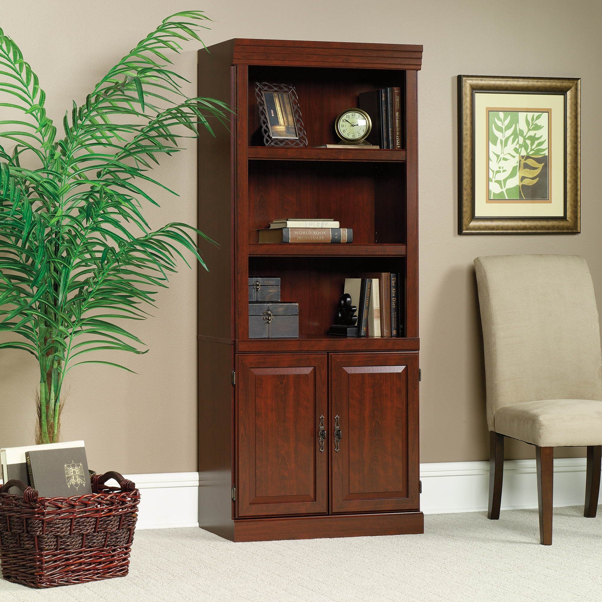 Heritage Hill Library With Doors 102792 Sauder Regarding Classic Bookcase (#11 of 15)
