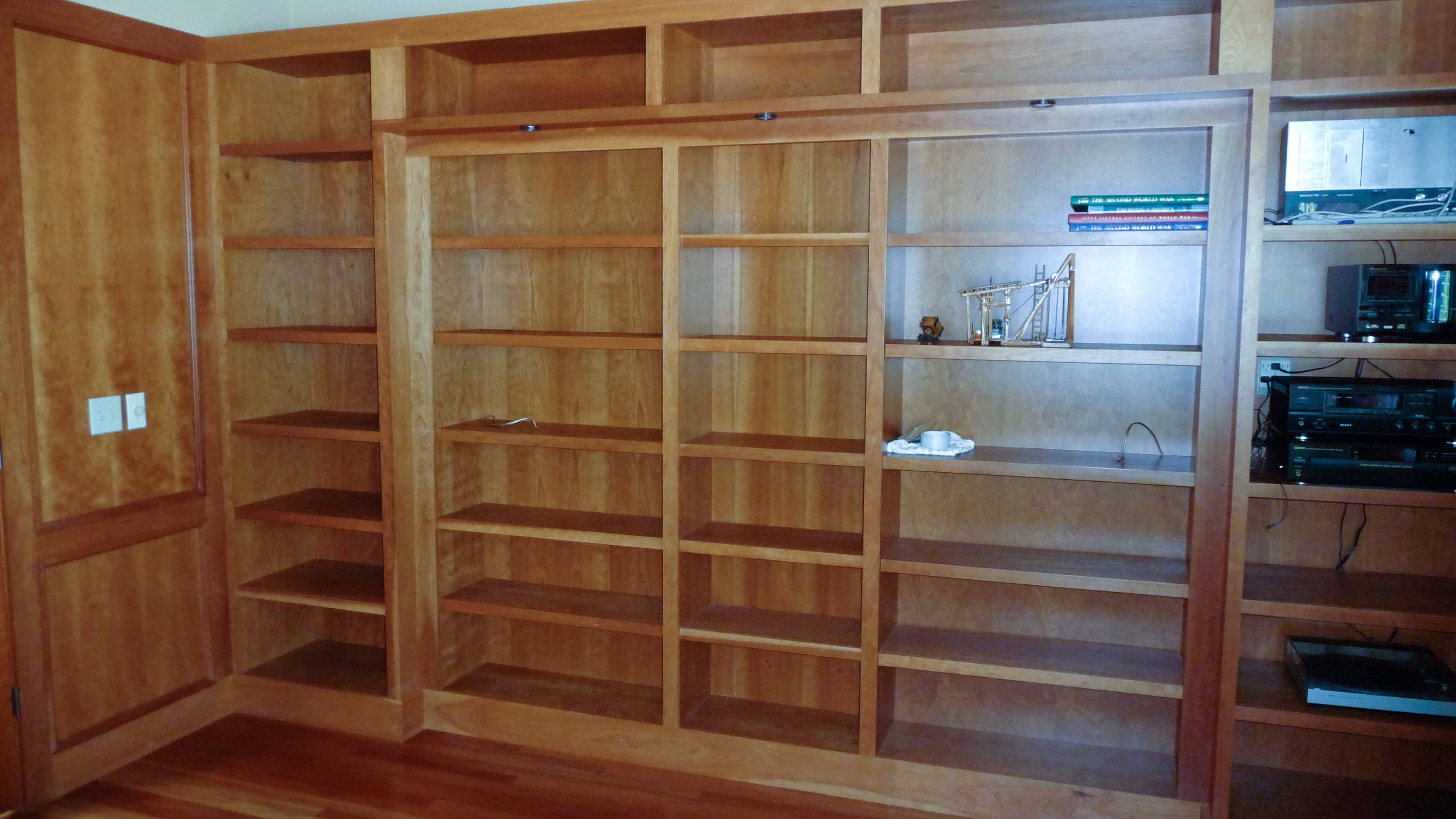 Hidden Pivot Bookcase Installation Thisiscarpentry Regarding Built In Bookshelf Kits (#11 of 15)