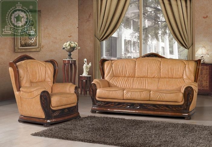 High Quality Living Room Furniture European Antique Leather Sofa Within European Leather Sofas (#8 of 15)