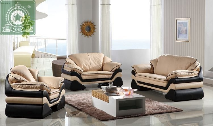 High Quality Living Room Furniture European Modern Leather Sofa Pertaining To European Leather Sofas (#9 of 15)