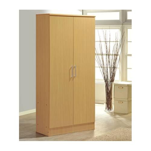 Hodedah Import 2 Door Wardrobe With Shelves Hoahid8600b Intended For Wardrobe With Shelves (#5 of 15)