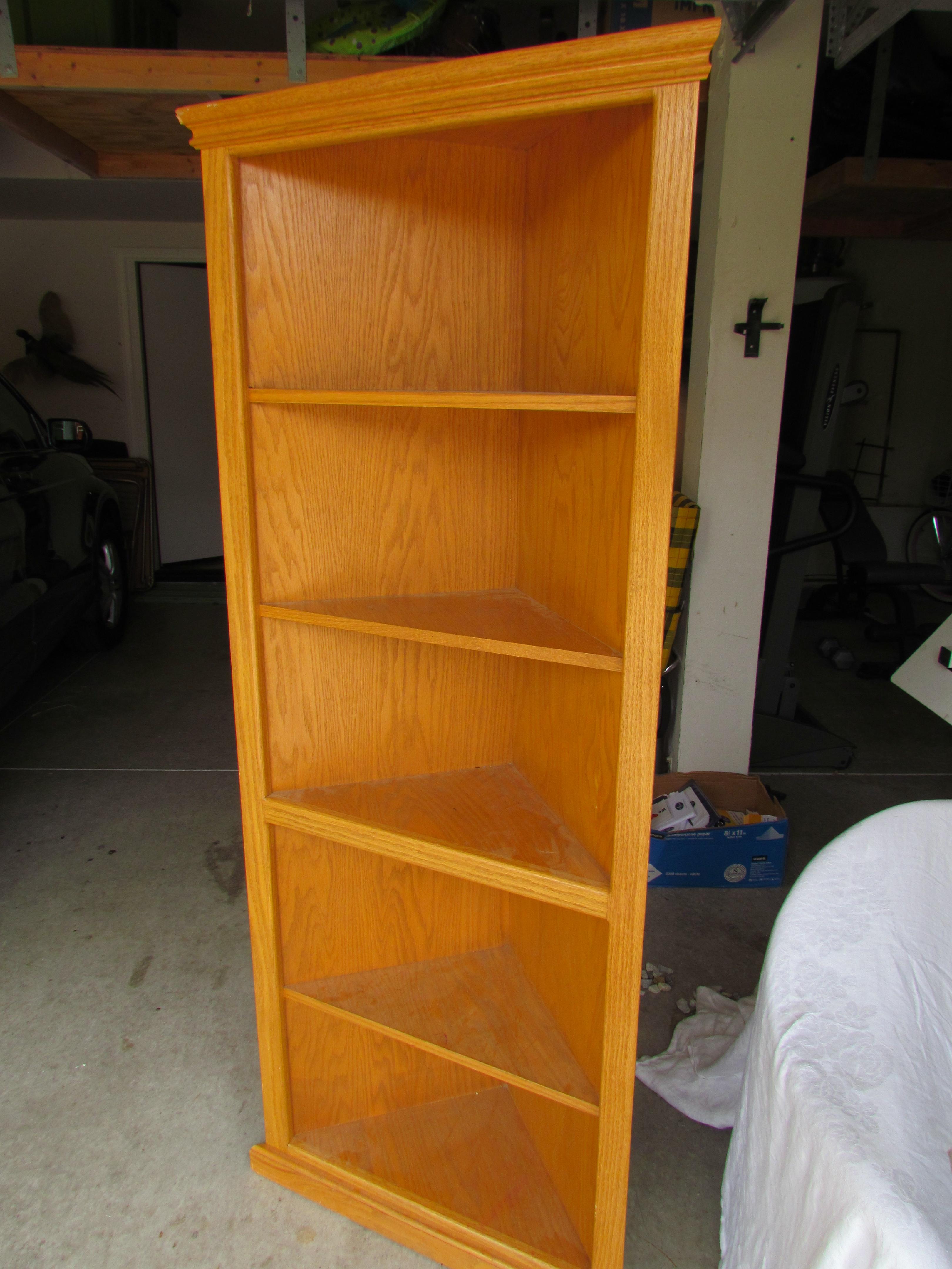 Hokey Oak Bookcase Remake D I Y Midcenturyobsession Regarding Corner Oak Bookcase (View 7 of 15)